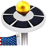 Openuye Solar Flag Pole Lights 26 LED Weatherproof Flagpole Downlight Light for Most 15 to 25 Ft Flagpole Dusk to Dawn Auto On/Off Night Lighting