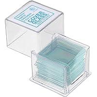 VIDOO 100 Unids/Caja 18x18Mm Portaobjetos Transparentes Cubreobjetos Cubierta