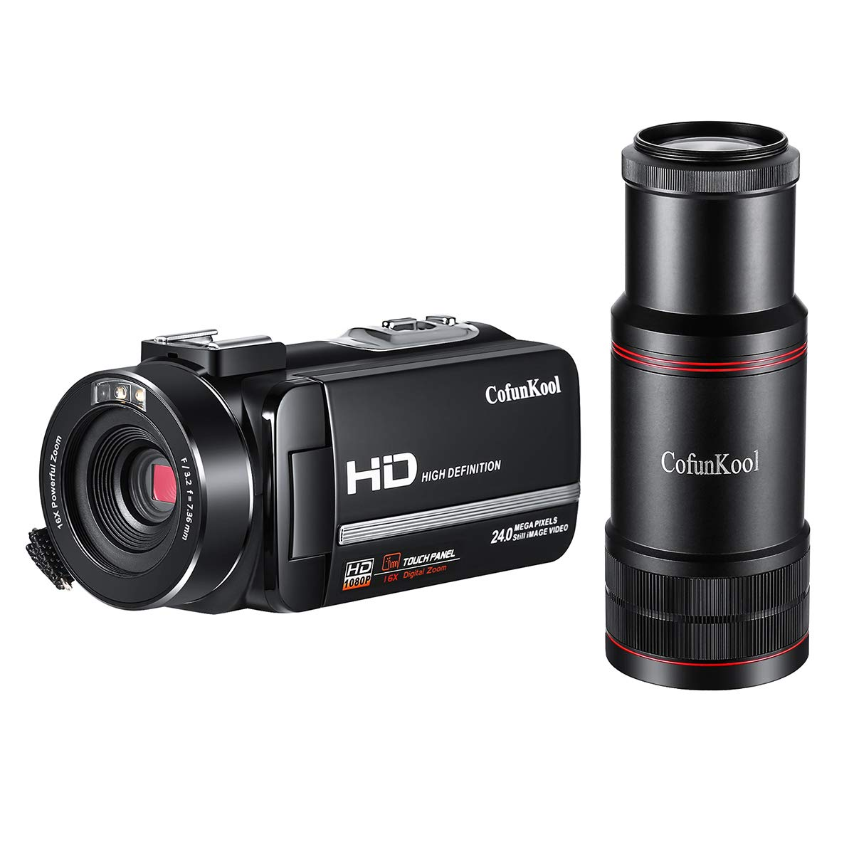 CofunKool Camcorder Video Camera Recorder 16X Digital Zoom IR Night Vision with Monocular Remote Control Price: $129.99