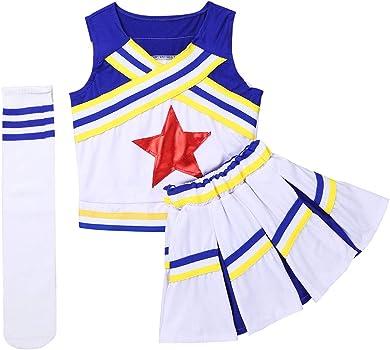 iiniim Disfraces de Animadora Fútbol Tenis Baloncesto Niñas Chicas ...