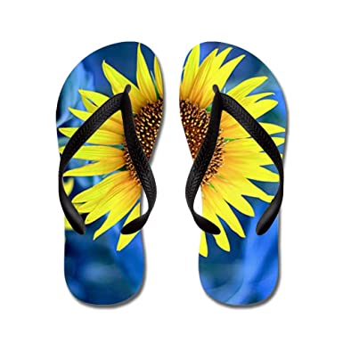 e9cceecf8 Royal Lion Women s Young Sunflower Black Rubber Flip Flops Sandals 4-5.5
