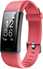 Lintelek Fitness Tracker Heart Rate Monitor, Activity Tracker, Pedometer Watch with