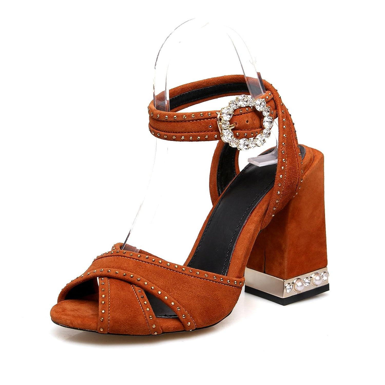 a0e7b701ea De bajo costo AnMengXinLing BSFE-L0124-145-425 - Sandalias de Vestir de.  Bueno wreapped Exing Zapatos de Mujer ...