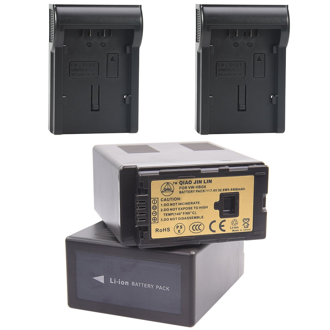 QiaoJL 2x Replacement battery pack for Panasonic VW-VBG6 VBG6