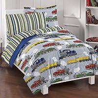 Dream Factory Trains Ultra Soft Microfiber Boys Comforter...