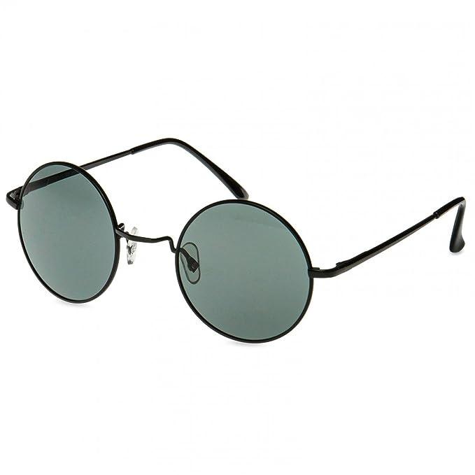 092af2c62d CASPAR SG039 Gafas de Sol Redondas/Gafas Estilo Retro Vintage John Lennon,  Color: