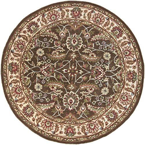 Surya Caesar 6' x 6' Round Hand Tufted Wool Rug in - Caesar Cae1003 Chocolate