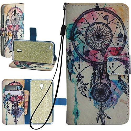 ZTE Zmax 2 Case, Zmax 2 Wallet Case, Harryshell Dream Catcher Wallet Folio Leather Flip Case Cover with Credit Card Id Pocket for ZTE Zmax 2 Z958