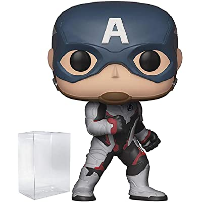 Marvel: Avengers Endgame - Captain America Funko Pop! Vinyl Figure (Includes Compatible Pop Box Protector Case): Toys & Games