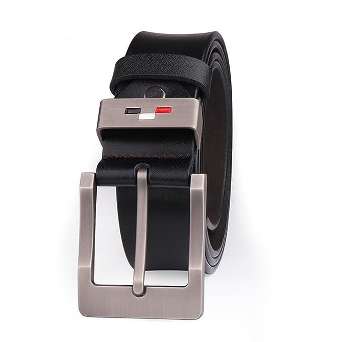 SEESUNGM Cinturón Cinturones Para Vestidos Mujer Longitud Ajustable De Cuero De Vaca De Cuero De La Aguja Del Sujetador De La Aguja: 100-135Cm: Amazon.es: ...