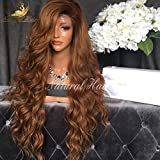 180% Density Human Hair Wigs 8A Vigin Peruvian Hair Lace Front Wigs Ombre Black Wig Roots 1B 30 Color Body Wave Glueless Lace Front Wig with Baby Hair for Black Women (22 inch, full lace wig)