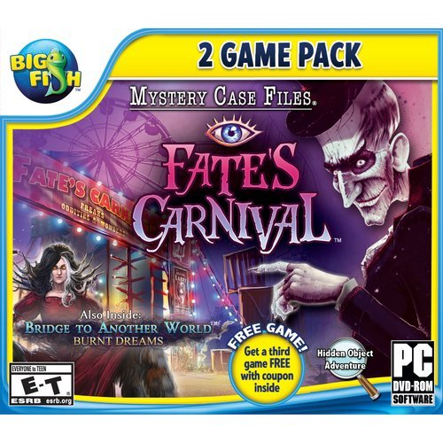 Mystery Case Files 2 Pack: Fate's Carnival + Bridge to Another World: Burnt Dreams (Games Case Pc Files Mystery)