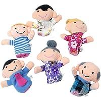 sungpunet 6piezas Happy miembro de la familia juego de marionetas de dedo, y niños en edad preescolar de favoritos