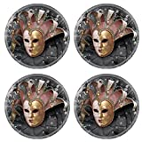 MSD Natural Rubber Round Coasters IMAGE ID: 4351527 Venetian Mask composition
