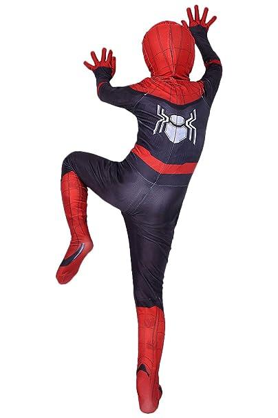 Amazon.com: Disfraz de Peter Parker Lycra Spandex Zentai ...