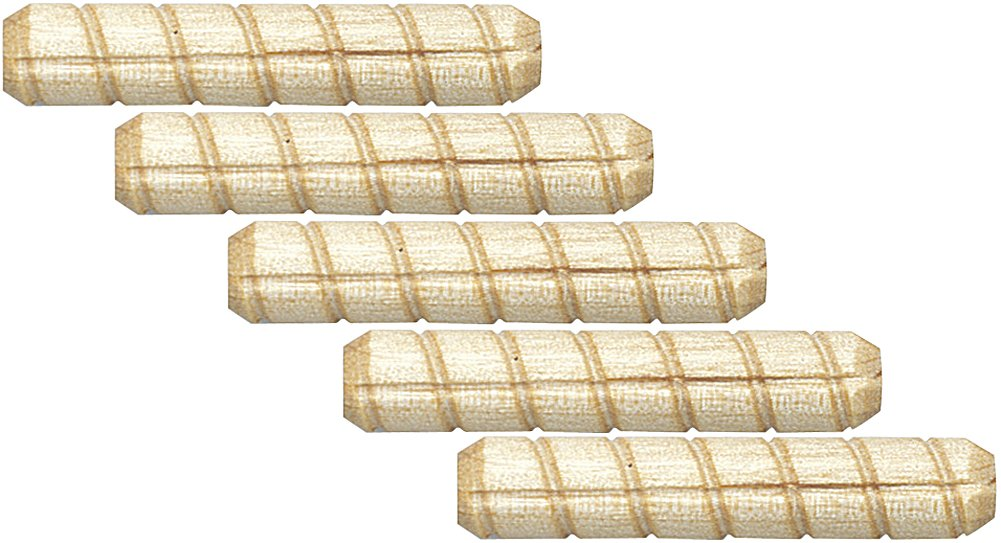 Platte River 110002, Wood Specialties, Pins & Plugs, 5/16'' X 2'' Spiral Dowel Pin, 500-pack