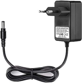 JRing Netzteil 24V DC 1A, EU Plug 5,52,1mm, 24W Stecker Netzteil für Radiowecker, LED Strip Streifen, Speedport, Lichtleisten, USB Hub, Switch,