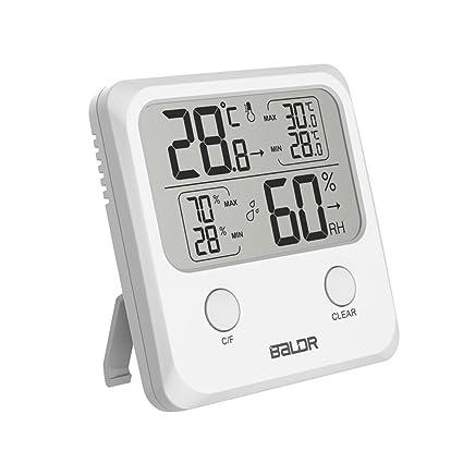 OTGO - Termómetro Digital LCD para Interiores (higrómetro, medidor de Temperatura de la Pared