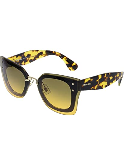 the latest ef95a 04896 Miu Miu Women's 0MU04RS NAI0A3 67 Sunglasses, Topo Black ...