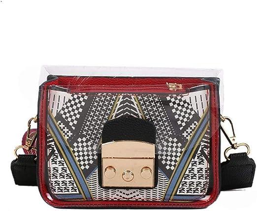 ZhiGe Monederos Mujer,Cartera Mujer Banda de Ancha de Mujer Billetera Dama Diagonal Cruzada Pack Moda una Bandolera móvil teléfono Monedero 0: Amazon.es: Hogar