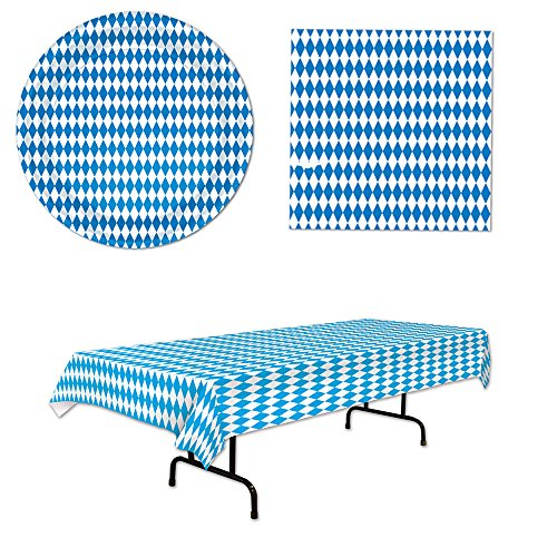 Oktoberfest Super Party Decorations 33 Piece Bundle for 16 Tablecover Plates Napkins
