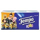 Tempo Taschentücher Kids, 4-lagige Papiertücher in bewährter Tempo Qualität mit lustigen Motiven, 9 x 5 Tücher (45 Tücher)