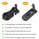 5 IN 1 Upgraded Car Rooftop Doorstep Folding Ladder Foot Pegs Easy Reach to Car Rooftop Roof-Rack, Vehicle Latch Door Step, Tire Stopper Safety Hammer for Jeep SUV Off-Road Car