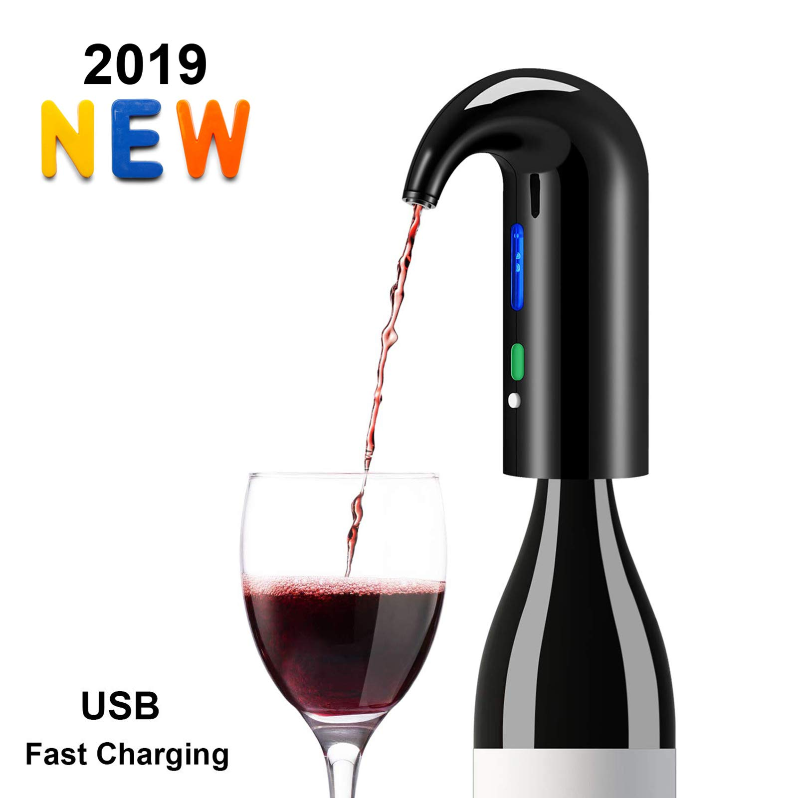 Wine Aerator Electric Wine Decanter Best Sellers One Touch Red -White Wine Accessories Aeration Work with Wine Opener for Beginner Enthusiast - Spout Pourer - wine preserver by JIFAR