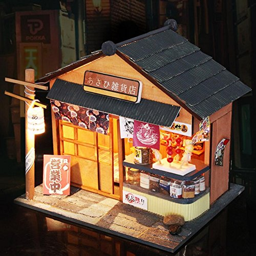 NWFashion Handmade DIY Japanese Style Store House with Furniture (Store)