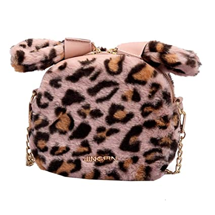 f205947e35 Image Unavailable. Image not available for. Color  Biback Women Girl Plush  Shoulder Bag Wild Messenger ...