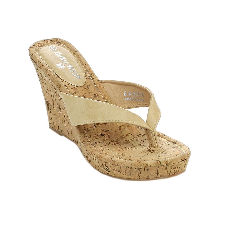 Spirit Moda Alice-4 Women Flip Flop Wedge Sandals