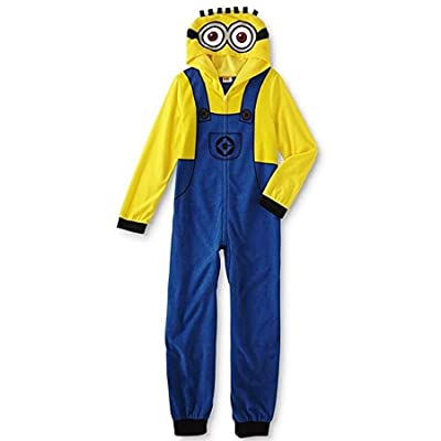 DESPICABLE ME Boy's Fleece Hooded Minion Pajama Sleeper