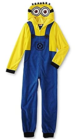 4349dd59e Amazon.com  AME Despicable Me Boy s Size 6 Fleece Hooded Minion ...