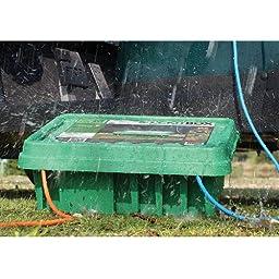 SOCKiT BOX FL-1859-330-G Weatherproof Powercord Connection Box 330, Green