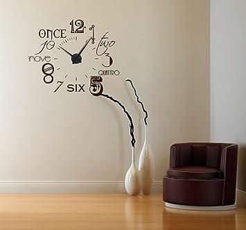 Graz Design 800054al031 Wandtattoo Uhr Wanduhr Zahlen