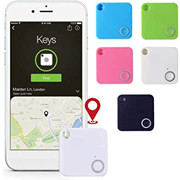 Anti-Lost/Theft Tracker, Mini Alarm Bluetooth Tracker for Kids Pet Wallet Key with Hanging Hole