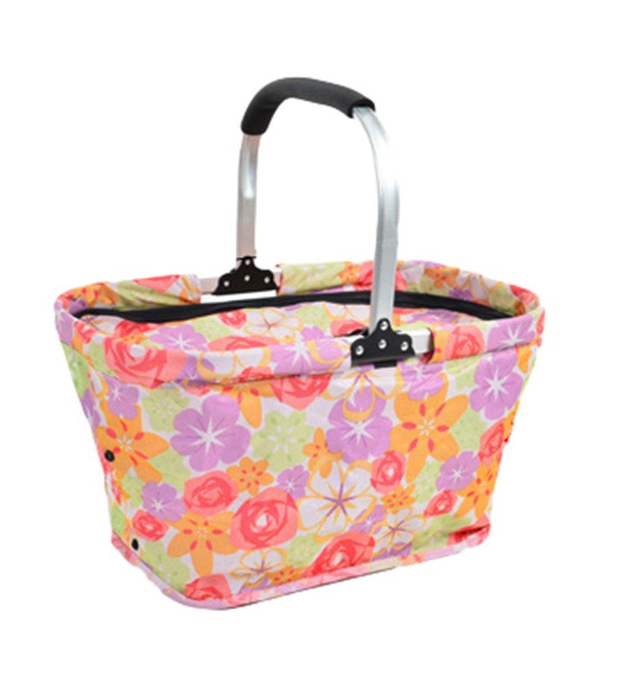Dexinx Faltbarer Lunchbox Jacquard Weich Kühlung Picknick-Box Im Freien 50*28*26cm