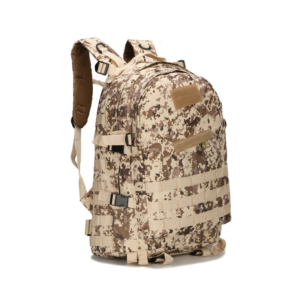 wfiveアウトドアタクティカルバックパックミリタリーリュックサック、Assault Pack CombatバックパックTrekking BagバックパックをハイキングキャンプトレッキングHunting 45l  デザート B07FP8PKGF