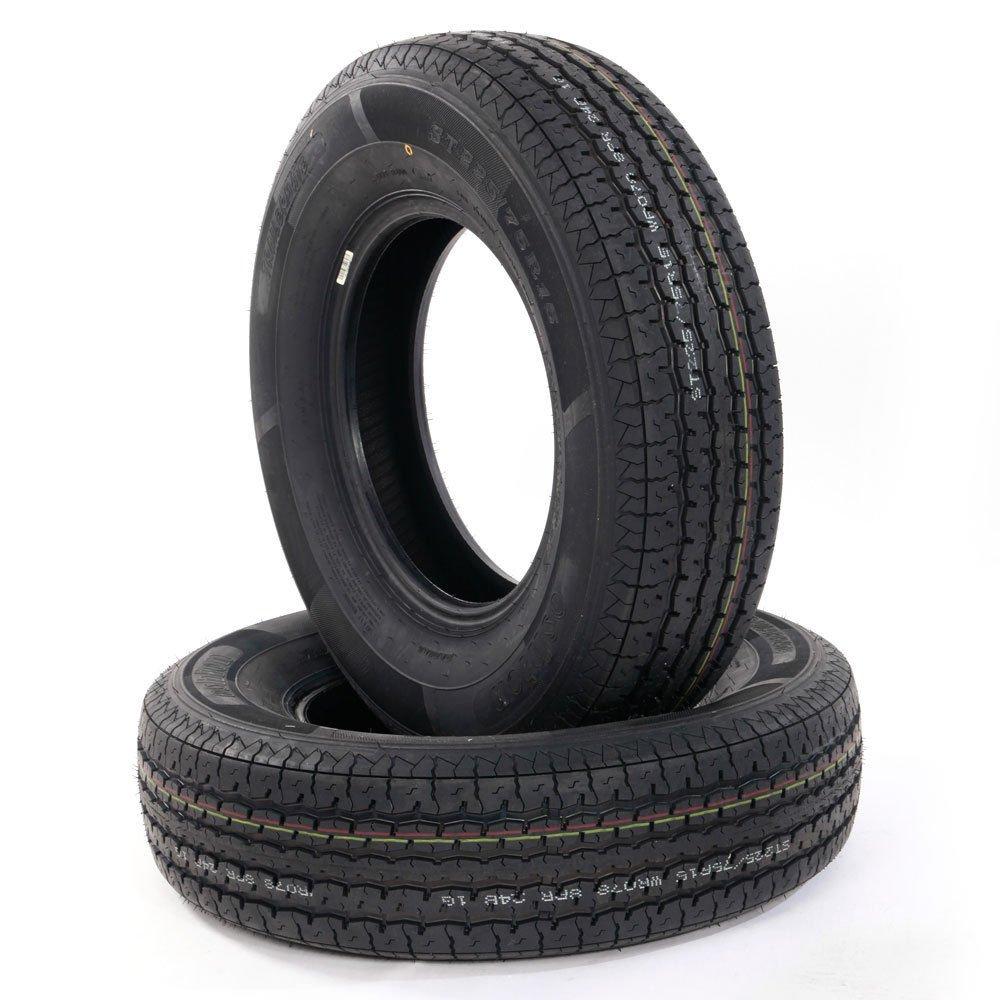 Set of 2 Load Radial Trailer Tires ST225/75R15 8PR/Load Range D 2257515