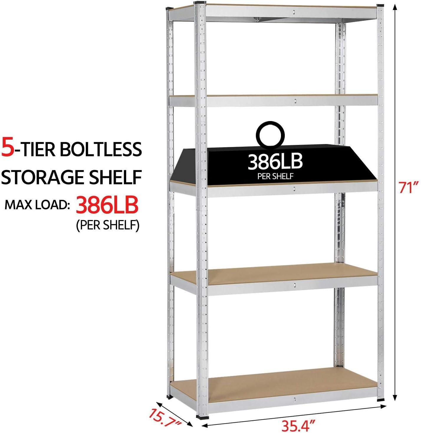 soporte de armario 2-Tiers organizaci/ón de pared de almacenamiento YonTree Estanter/ía de 1/a 5/niveles tarros de hierbas de acero para botes de especias