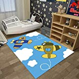 Rug WAN SAN QIAN- Creative Children's Bedroom Bedside Cartoon Carpet Baby Crawling Mat Kids For Playroom Home Nursery Learning Carpets (Color : B, Size : 100x160cm)