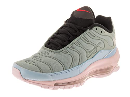 Nike Air Max 97 in Barely Rose on womans feet. Cool Nike