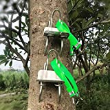 blue--net Tree Climbing Spikes - Tree Climbing Tool for Hunting Observation Picking Fruit - 304 Stainless Steel Climbing Tree Shoes Simple to Use