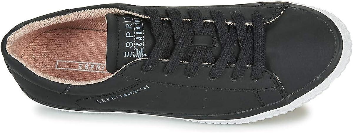 ESPRIT Schnür-Sneaker mit Lochmuster-Details Black