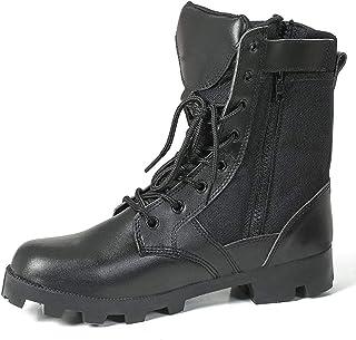 YAN Chaussures Unisexes 2018 Nouvelle Formation Bottes en Cuir + Oxford Hommes Femmes Chaussures De Randonnée Déodorant Respirant Occasionnel/Quotidien Chaussures De Marche,Black,42
