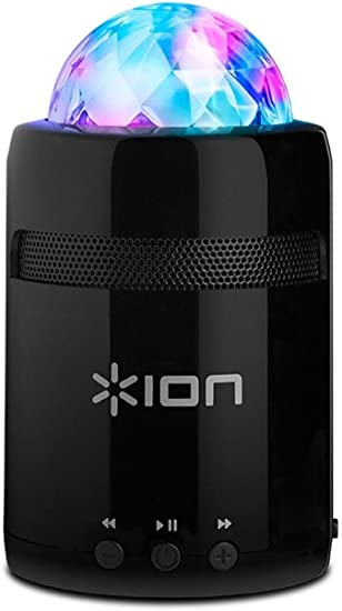 ION Audio Party Starter MK II  Pocket-Sized Bluetooth Speaker with  Built-In Beat-Sync Light Show (10W)