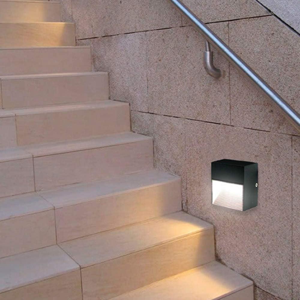 KHEBANG LM6194 Baliza LED Escalera 3 W Luz Color Cálido Amarillo 3003K,Negro: Amazon.es: Iluminación