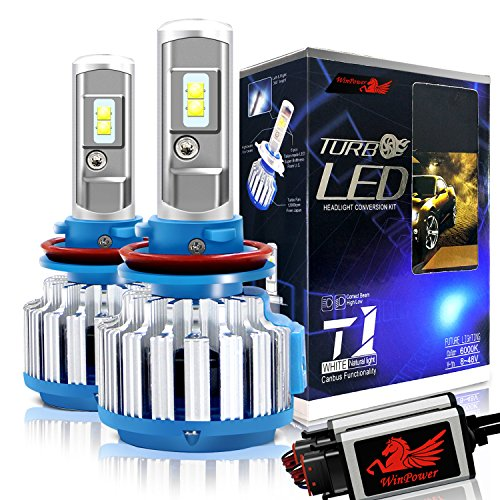 Win Power H11 LED Headlight Bulb Conversion Kit H8 H9 CREE 70W 7,200Lm 6000K Cool White Fog Lights+ Canbus-2 Yr ()