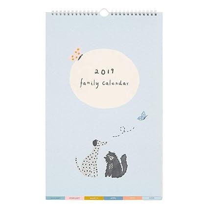 Amazon.com : kikki.K 2019 Family Wall Calendar Small: Sweet ...