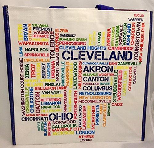 Ohio Cities Shopping Bag Tote - Cincinnati Shopping Ohio